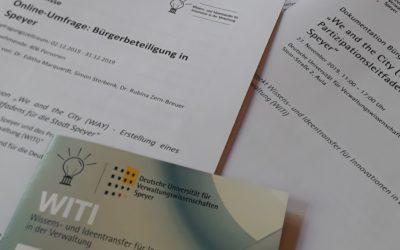 WITI-Projekt und Stadt Speyer stellen Ergebnisse zur Bürgerbeteiligung in Speyer vor